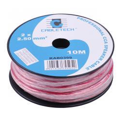 Kabel głośnikowy CCA 2.5mm 10M, rolka