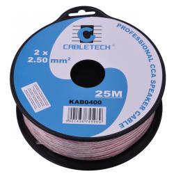Kabel głośnikowy CCA 2.5mm 25M, rolka