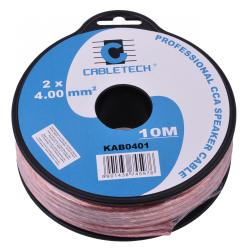Kabel głośnikowy CCA 4.0mm 10M, rolka
