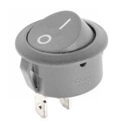 Złącze przełącznik kołyskowy okrągły R5 0-1 szary 6A/250V