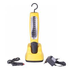Lampa warsztatowa 30LED z ładowarką sieciową i samochodową