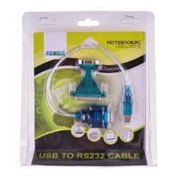 4W Kabel konwerter USB 2.0 - RS232 (DB9M+DB25M)