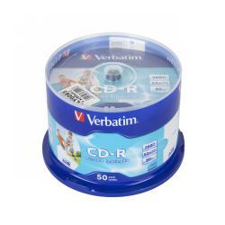 CD-R VERBATIM 700MB 52x PRINTABLE AZO FULLCAKE 50szt.