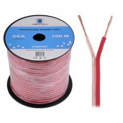 Kabel głośnikowy CCA 0.50mm Cabletech extra flexible, rolka