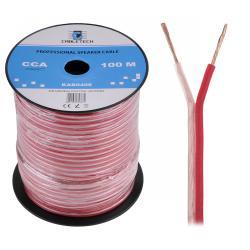 Kabel głośnikowy CCA 0.75mm Cabletech extra flexible, rolka
