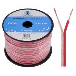 Kabel głośnikowy CCA 1.0mm Cabletech extra flexible, rolka