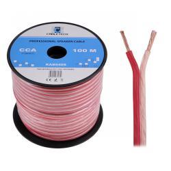 Kabel głośnikowy CCA 1.5mm Cabletech extra flexible, rolka