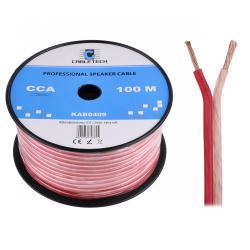 Kabel głośnikowy CCA 2.5mm Cabletech extra soft, rolka