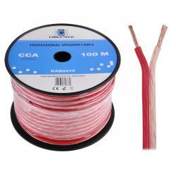 Kabel głośnikowy CCA 4.0mm Cabletech extra flexible, rolka