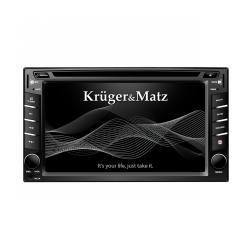 "Radio samochodowe Kruger&Matz 2DIN, 6,2"" z tunerem DVB-T, GPS, BT"