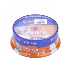 DVD-R VERBATIM 4,7 GB 16X PRINT. FULL FACE CAKE 25szt.