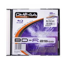 OMEGA BD-R BLU-RAY 25GB 6X FULL PRINT. SLIM 1szt.