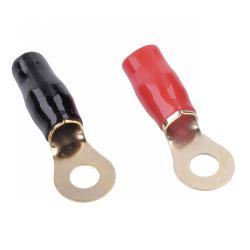 Konektor M8/12GA na kabel 4 oczkowy-izol.czerw+czar.KM59