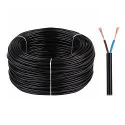 Kabel elektryczny OMY 2x0,75 300/300V czarny, rolka