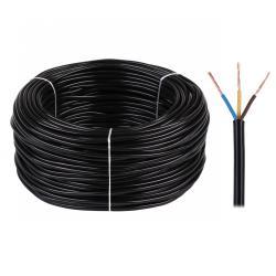 Kabel elektryczny OMY 3x0,75 300/300V czarny, rolka