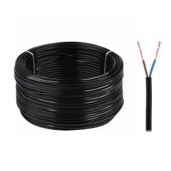 Kabel elektryczny OMYp 2x0,75 300/300V czarny, rolka
