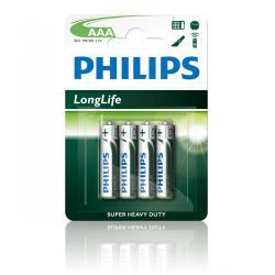Bateria Philips R03 LongLife B4 blister -4szt, blister