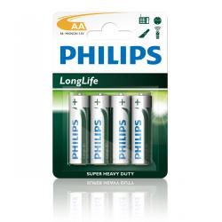 Bateria Philips R6 LongLife B4 blister -4szt, blister