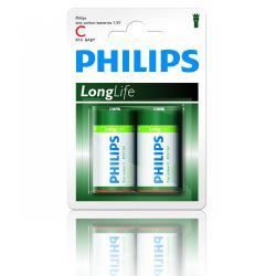 Bateria Philips R14 LongLife B2 blister -2szt, blister