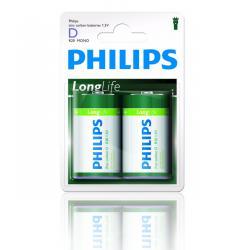 Bateria Philips R20 LongLife B2 blister -2szt, blister