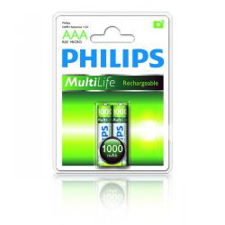 Bateria Philips R03 Ni-Mh 1000mAh -2szt, blister