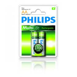 Bateria Philips R6 Ni-Mh 2700mAh -2szt, blister
