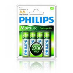 Bateria Philips R6 Ni-Mh 2700mAh -4szt, blister