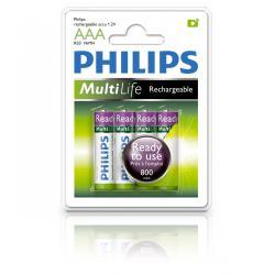 Bateria Philips R6 Ni-Mh 2000mAh gotowe do użycia-4szt, blister