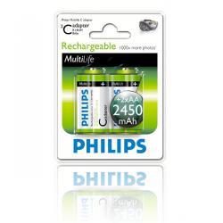 Bateria Philips R14 Ni-Mh 2450 mAh -2szt, blister
