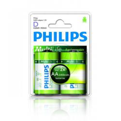Bateria Philips R20 Ni-Mh 2450 mAh -2szt, blister