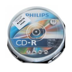 CD-R PHILIPS 700MB 52X cake 10szt.