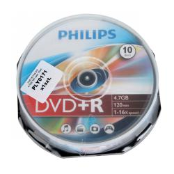 DVD+R PHILIPS 4,7GB 16X cake 10szt.