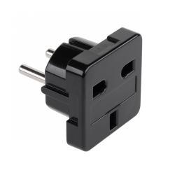 Złącze AC wtyk PL-gniazdo UK czarne (ZC-31)