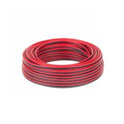 Kabel głośnikowy CCA 0.75mm czarno-czerwony 25M, rolka