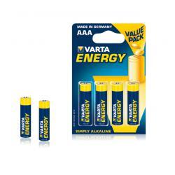 Bateria alkaliczna VARTA LR03 ENERGY 4szt./bl., blister