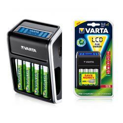 Ładowarka VARTA Plug LCD+4xAA2100mAh, blister