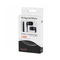 Słuchawki dokanałowe z mikrofonem Kruger&Matz KMP08-M