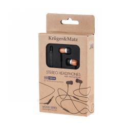 Kruger&Matz słuchawki douszne z mikrofonem KM 108M CR