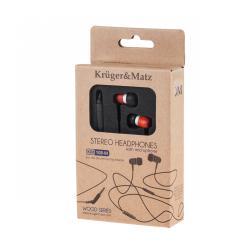 Kruger&Matz słuchawki douszne z mikrofonem KM 108M RW