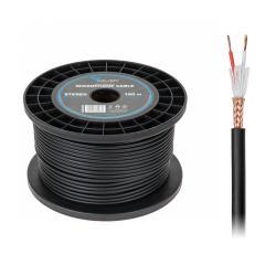Kabel mikrofonowy AZUSA stereo 6mm profesjonalny, rolka
