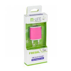 Ładowarka sieciowa M-Life USB 1000mA