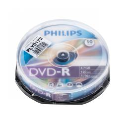 DVD-R PHILIPS 4,7GB 16X cake 10szt.