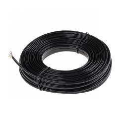 EDC Kabel telefoniczny 4C czarny 25m na blistrze, rolka