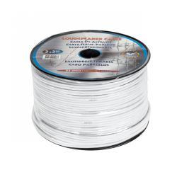 Kabel głośnikowy 2,5mm biały 100m, rolka