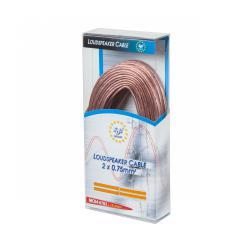 EDC Kabel głośnikowy szary 10m 2x0.75, rolka