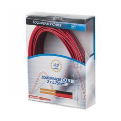 Kabel głośnikowy CCA 0.75mm 25M czerwono-czarny, rolka