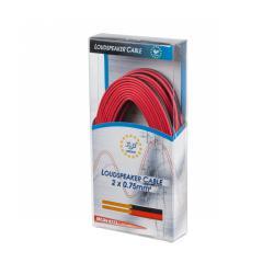 Kabel głośnikowy CCA 0.75mm 10m czerwono-czarny, rolka