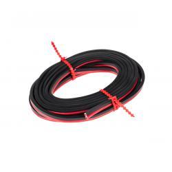 Kabel głośnikowy CCA 1.5mm 10M czer.-czarn., rolka
