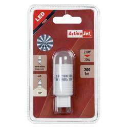 Lampa LED 2,8W G9 230V biała