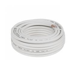 Kabel koncentryczny RG-6U CU 8m żyła CU oplot CU, rolka